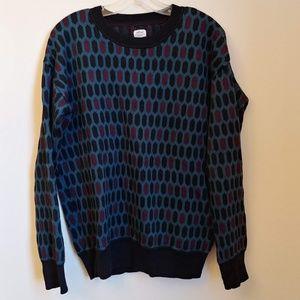WIlfred Silk & Cashmere Diamond Multicolor Sweater